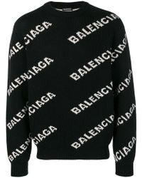 Balenciaga - Maglione con logo - Lyst