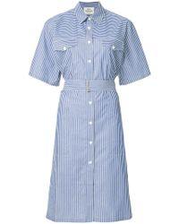 Mads Nørgaard - Striped Shirt Dress - Lyst