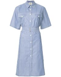 Mads Nørgaard - Striped Shirt Dress - Lyst