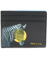 PS by Paul Smith - Zebra Print Cardholder - Lyst