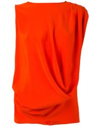 Gianluca Capannolo - Draped Tank Top - Lyst