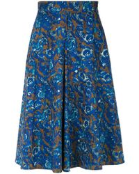 Andrea Marques - Front Pleat Skirt - Lyst