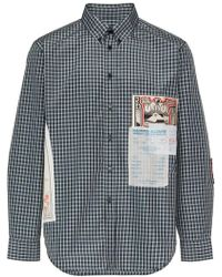 Martine Rose - Checked Patch Shirt - Lyst