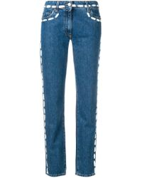 Moschino - Painted Stitch Jeans - Lyst