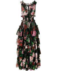 Dolce & Gabbana - Vestido de noche con estampado floral - Lyst