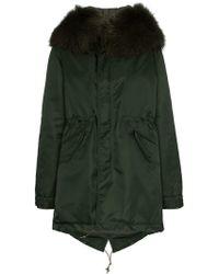 Mr & Mrs Italy - Hooded Fur-collar Parka Coat - Lyst