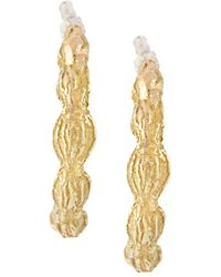 Wouters & Hendrix - 18kt Yellow Gold Sculpted Hoop Earrings - Lyst