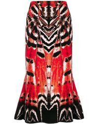 Alexander McQueen - Abstract Print Skirt - Lyst