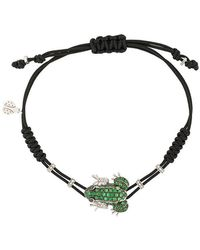 Pippo Perez - 18kt White Gold, Garnet And Diamond Frog Bracelet - Lyst
