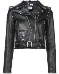 RE/DONE - Zipped Biker Jacket - Lyst