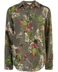 L'Agence - Floral Print Shirt - Lyst