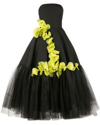 Christian Siriano - Ruffled Contrast Ball Gown - Lyst