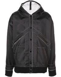 Maison Margiela - Hooded Raw Hem Jacket - Lyst