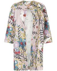 Erika Cavallini Semi Couture - Floral Print Coat - Lyst