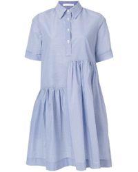 Peter Jensen - Striped Asymmetric Shirt Dress - Lyst