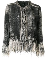 Avant Toi - Fringed Detail Jacket - Lyst