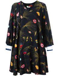 Fendi - Off-shoulder Floral Dress - Lyst