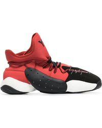 Y-3 - Byw Ball Red And Black Boost Sneaker - Lyst