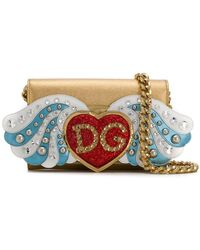 Dolce & Gabbana - Large Wallet Bag In Calfskin With Patches And Embroideries - Lyst