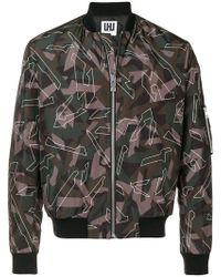Les Hommes - Camouflage Print Bomber Jacket - Lyst