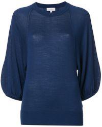Calvin Klein - Balloon Sleeve Sweater Top - Lyst