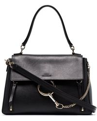 Chloé - Black Faye Day Medium Leather Shoulder Bag - Lyst