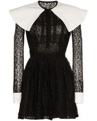 Alessandra Rich - Mikado Lace Mini-dress - Lyst