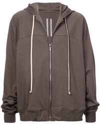 Rick Owens - Zipped Hooded Sweatshirt - Lyst