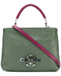 Paula Cademartori - Contrast Panel Shoulder Bag - Lyst