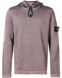 Stone Island - Drawstring Hooded Sweater - Lyst