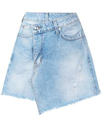 10 Crosby Derek Lam - Cleo A-line Wrap Mini Skirt - Lyst