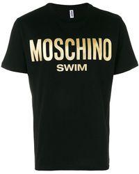 Moschino - Metallic Logo T-shirt - Lyst