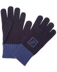 Fendi - Handschuhe mit Intarsien-Logo - Lyst