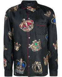 Dolce & Gabbana - Пижамная Рубашка С Принтом - Lyst