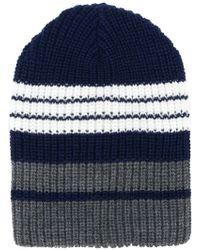 Altea - Colour-block Ribbed Beanie Hat - Lyst