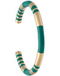 Aurelie Bidermann - Striped Cuff Bracelet - Lyst