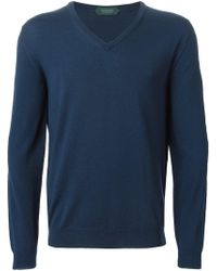 Zanone - V Neck Sweater - Lyst