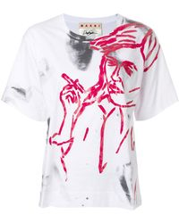 Marni - Painted T-shirt - Lyst