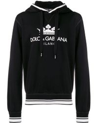 Dolce & Gabbana - Kapuzenpullover mit Logo-Print - Lyst
