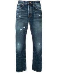 PRPS - Jeans taglio straight con strappi decorativi - Lyst