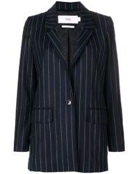 Closed - Striped Woven Blazer - Lyst