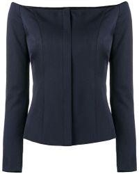 Ralph Lauren Collection - Off Shoulder Tailored Top - Lyst