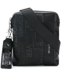 Versace Jeans - Logo Zipped Messenger Bag - Lyst