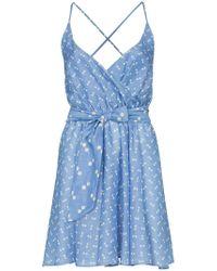 A Peace Treaty - Tiza Wrap Front Mini Dress - Lyst