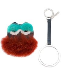 Fendi - Monster Mink Fur Keyring - Lyst