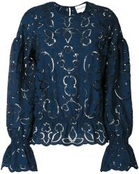 Perseverance London - Embroidered Cut-out Blouse - Lyst