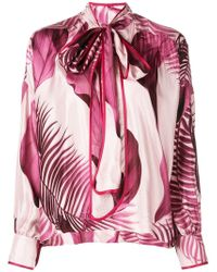 F.R.S For Restless Sleepers - Printed Pussy Bow Blouse - Lyst