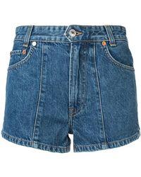 RE/DONE - Shorts denim pintuck '70s AF' - Lyst