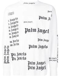 Palm Angels - Langarmshirt mit Logo-Print - Lyst