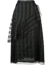 Jill Stuart - Patterned Ruffle Skirt - Lyst